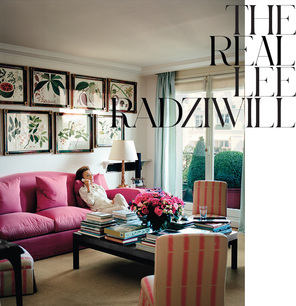 Vintage Paris Living Room: Lee Radziwill