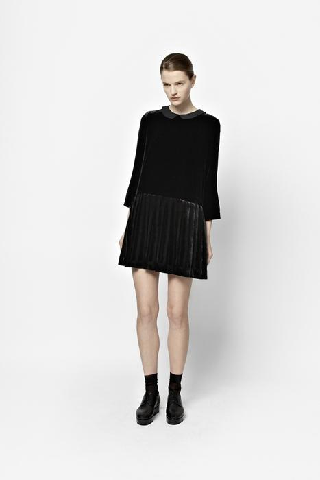 Pleated velvet dress from COS