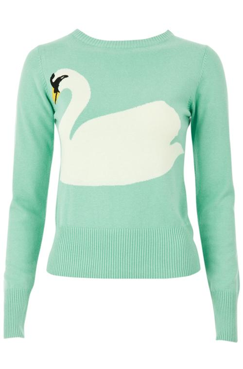 Swan sweater by Louche