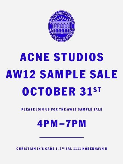 acne sample sale